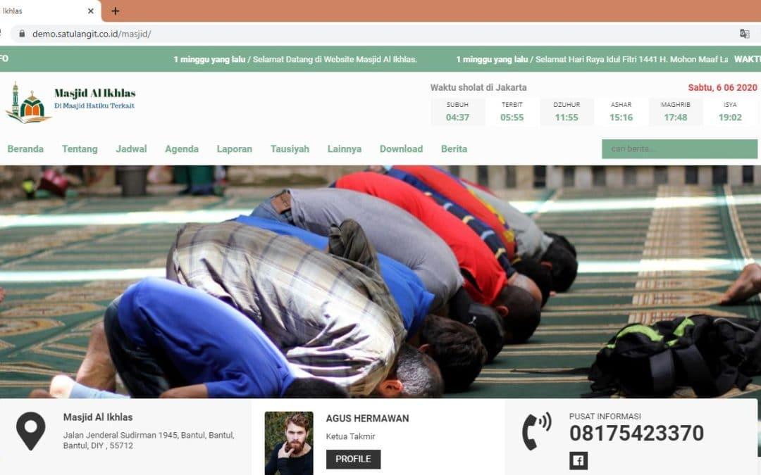 Jasa Pembuatan Website Gratis untuk Masjid
