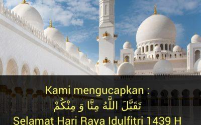 Selamat Hari Raya Idul Fitri 1439 H